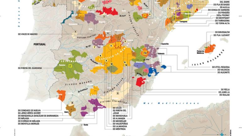 EL MAPA COMPLEJO DE LA ESPAÑA VINÍCOLA